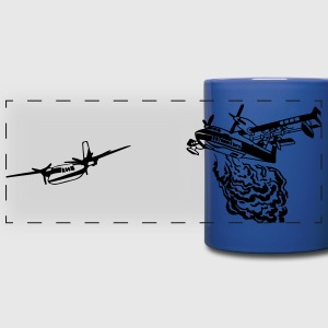 CL215T and Turbo Commander Bird Dog BLUE MUG - Full Color Panoramic Mug