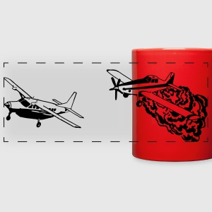 AT802 and Cessna Caravan Bird Dog RED MUG - Full Color Panoramic Mug
