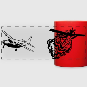 AT802 AMPHIB and Cessna Carvan Bird Dog RED MUG - Full Color Panoramic Mug
