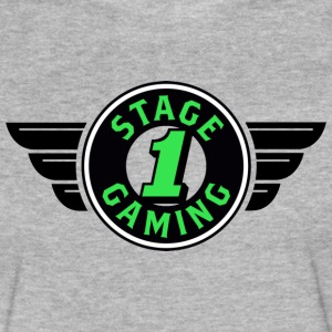 Authentic Stage 1 Gaming Tee - Grey - Mens - Fitted Cotton/Poly T-Shirt by Next Level