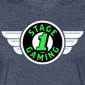 Authentic Stage 1 Gaming Tee - Black - Navy Blue - Fitted Cotton/Poly T-Shirt by Next Level