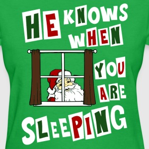 Creepy Santa Claus ugly Christmas sweater T-Shirts - Women's T-Shirt