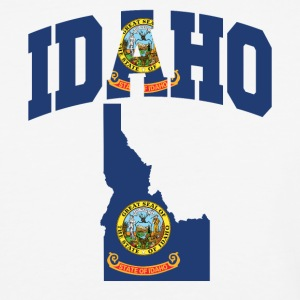 Idaho Flag In Idaho Map V-Neck Tee - Baseball T-Shirt
