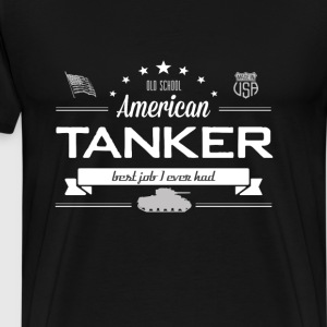 Old School American Tanker - Men's Premium T-Shirt