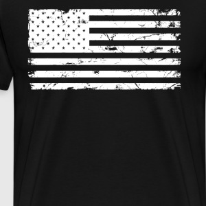 Distressed USA Flag Men's T-shirt - Men's Premium T-Shirt
