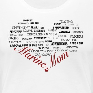 Marine Mom Heart T-Shirt - Women's Premium T-Shirt