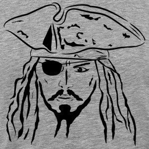 Pirate in Black - Men's - Men's Premium T-Shirt