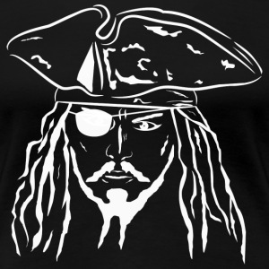 Pirate in White - Women's - Women's Premium T-Shirt