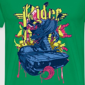 Dragon car Rider - Men's Premium T-Shirt