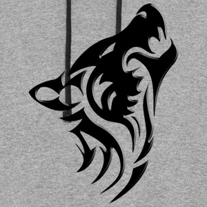 wolf collection hoodie - Colorblock Hoodie