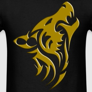 mens wolf collection tee shirt gold - Men's T-Shirt