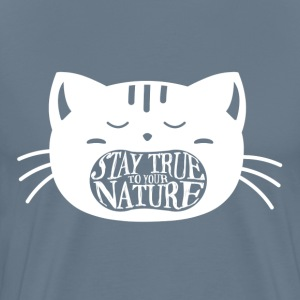 True Nature Men's Steel Blue - Men's Premium T-Shirt