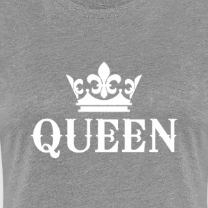 Queenly Attire in White - Women's Premium T-Shirt