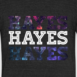 Galaxy Print Hayes Graphic T-Shirt. - Unisex Tri-Blend T-Shirt by American Apparel