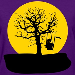 rocking reaper on a tree_girls_violet - Women's T-Shirt