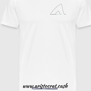 White T, basic black logo [Aristocrat.cash] - Men's Premium T-Shirt