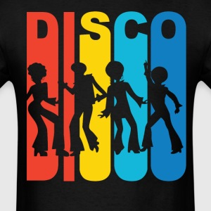 1970's Style Rainbow Disco Dancers T-Shirt - Men's T-Shirt