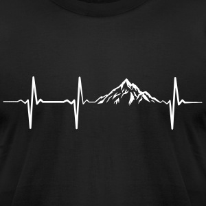 Mountain Heartbeat T-Shirts - Men's T-Shirt by American Apparel
