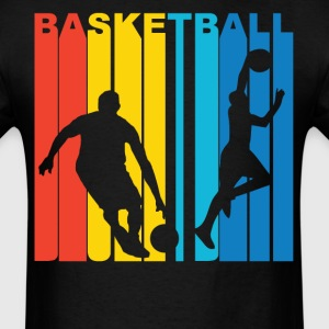 Retro Basketball Players Silhouette Sports Shirt - Men's T-Shirt