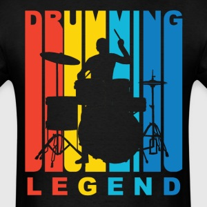 Drumming Legend Retro Drummer T-Shirt - Men's T-Shirt