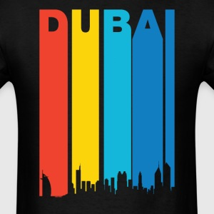 Retro 1970's Dubai UAE Skyline T-Shirt - Men's T-Shirt