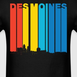 Vintage Des Moines Iowa Skyline T-Shirt - Men's T-Shirt