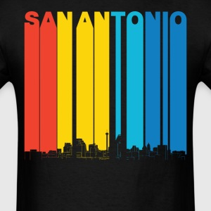 Vintage San Antonio Texas Skyline T-Shirt - Men's T-Shirt