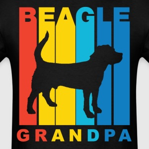 Retro Beagle Grandpa Dog Grandparent T-Shirt - Men's T-Shirt