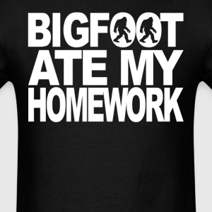 Bigfoot Ate My Homework Funny Bigfoot T-Shirt - Men's T-Shirt