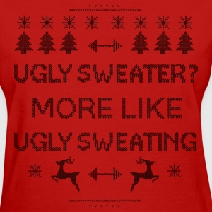 Workout Sweating Ugly Christmas  - Women's T-Shirt