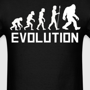 Sasquatch Evolution Funny Bigfoot Shirt - Men's T-Shirt