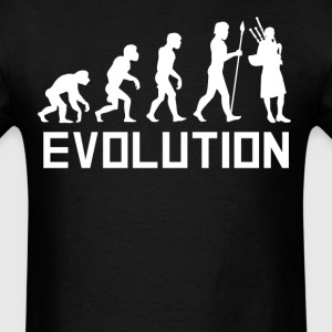Bagpipes Player Evolution Funny Bagpipes Shirt - Men's T-Shirt