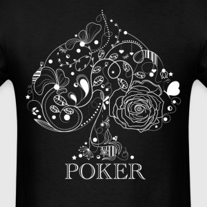 Fancy Spade Poker Gambling - Men's T-Shirt