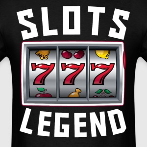 Slots Legend Cool Slot Machine Player - Men's T-Shirt