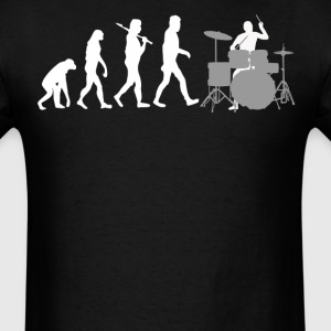 Rock Drummer Evolution Funny Music - Men's T-Shirt