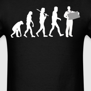 Accordion Player Evolution Funny Music - Men's T-Shirt