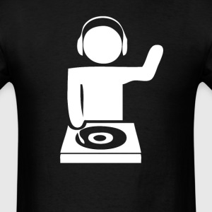 DJ Spinning Records Cool Music - Men's T-Shirt