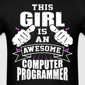 This Girl Is An Awesome Computer Programmer Funny - Men's T-Shirt