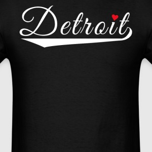 Detroit Love Fancy Heart City Logo - Men's T-Shirt