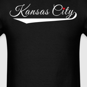 Kansas City Fancy Heart City Logo - Men's T-Shirt