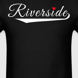 Riverside Love Fancy Heart City Logo - Men's T-Shirt