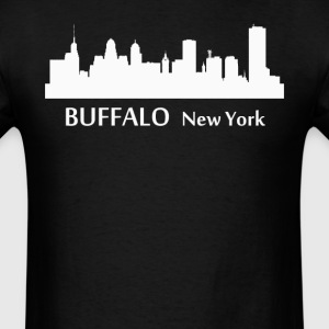 Buffalo New York Downtown Skyline Silhouette - Men's T-Shirt