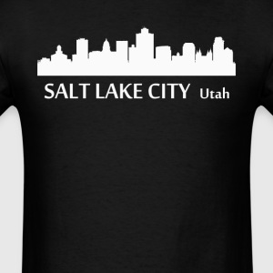 Salt Lake City Utah Downtown Skyline Silhouette - Men's T-Shirt