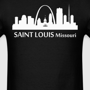 Saint Louis Missouri Downtown Skyline Silhouette - Men's T-Shirt