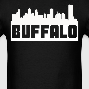 Buffalo New York Skyline Silhouette - Men's T-Shirt