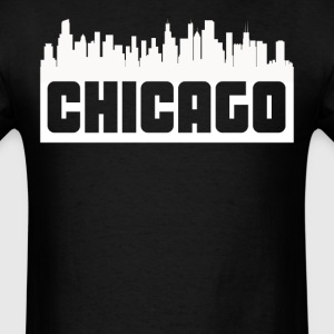 Chicago Illinois Skyline Silhouette - Men's T-Shirt