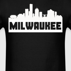 Milwaukee Wisconsin Skyline Silhouette - Men's T-Shirt