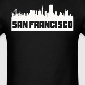 San Francisco California Skyline Silhouette - Men's T-Shirt