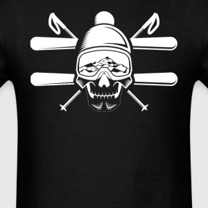 Skeleton Skier Skiing Skull - Men's T-Shirt