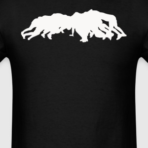 Rugby Players Scrum Down Silhouette Cool Sports - Men's T-Shirt